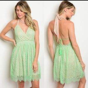 💥MEGA SALE💥Lace Green Sun Dress